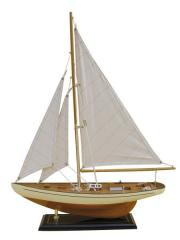 Iaht cu vele din stofa, L: 40cm, H: 54cm, Sea Club 5173