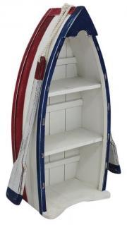 Etajera barca cu 3 rafturi din lemn pictat 22x49x14.5cm, 5217