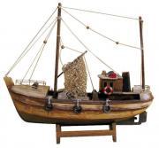 Barca de pescuit din lemn 30x27.5cm finisaj vechi 5180