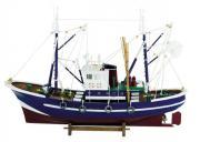 Barca de pescuit din lemn 58x40cm 5106
