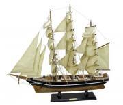 Nava Cutty Sark din lemn cu vele de panza 55x50cm 5183