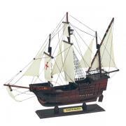 Caravel - Santa Maria, din lemn cu vele stofa, L: 45cm, H: 38cm