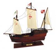 Corabie Pinta din lemn cu vele de stofa 37x43cm 5191