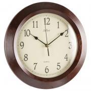 Ceas de perete Adler din lemn masiv 7101-1 D28 cm