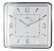 Ceas de perete Adler cu lumina led W165 Silver 32 cm