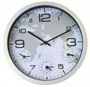 Ceas de perete Adler dual time 3141 Silver D35 cm
