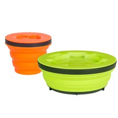 Set de vase pliabile Sea to Summit X-Seal & Go Small Lime/Orange