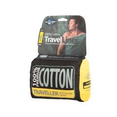 Lenjerie pentru sacul de dormit Sea to Summit Cotton Traveller, cu insertie pentru perna