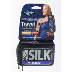 Lenjerie sac de dormit Sea to Summit Silk Liner Mummy, cu gluga integrata