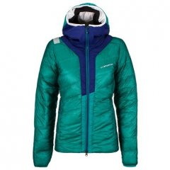 Frequency Down Jacket W EmeraldIris Blue
