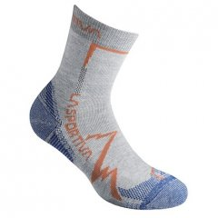 Mountain Socks Light Grey Cobalt