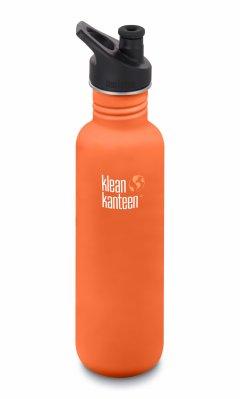 Bidon pentru apa din inox KleanKanteen Classic Sports Cap 0.8L