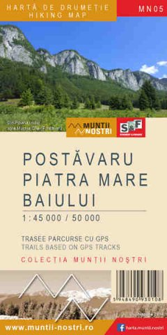 Schubert & Franzke Harta M-ții Postăvaru, Piatra Mare, Baiului
