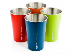 Set 4 pahare GSI Glacier Stainless Steel Pint Set Multi Color