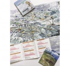Harta cicloturistică Munții Bucegi