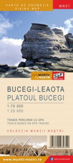 Schubert & Franzke Harta M-ții Bucegi-Leaota