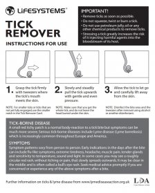LifeSystems Tick Remover Instructions for use