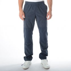 Pantaloni Think Pink Check Calanque with Plain Knee Patches Blue Berry