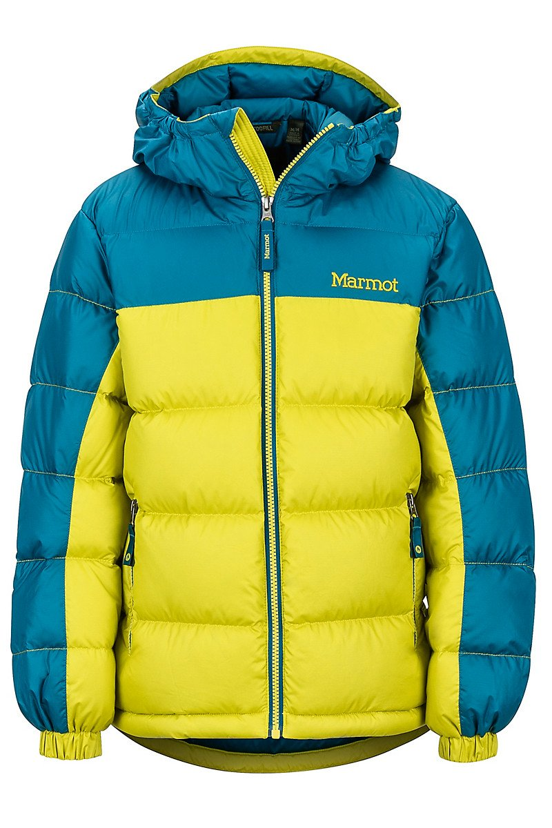 Boy`s Guides Down Hoody citronelle moroccan blue