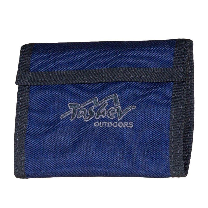 Tashev Wallet Compact Dark Blue Grey