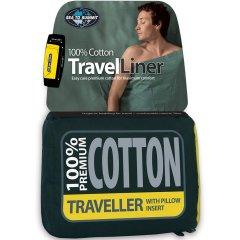 Lenjerie pentru sacul de dormit Sea to Summit Premium Cotton Travel Mummy 92/30x210 cm,