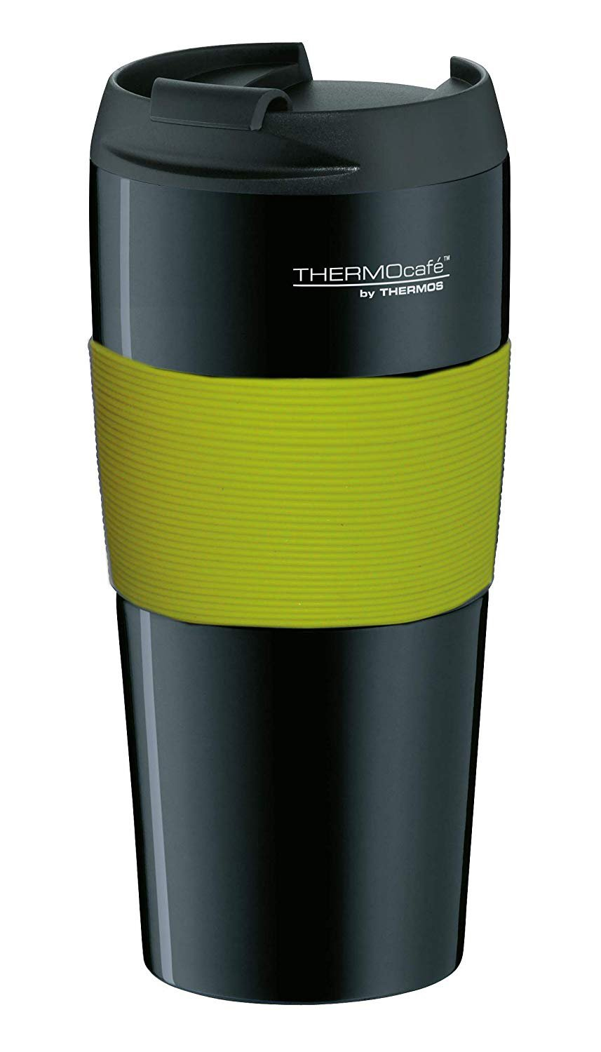 Thermos Tumbler 'Pro' 0.4L Black- Lime with collar