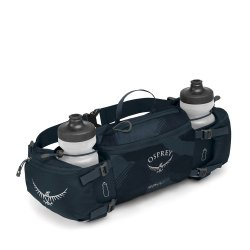 Osprey Savu 4 Slate Blue with bottles