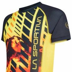 La Sportiva Wave Tshirt M Black Yellow P07999100 side