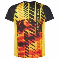 La Sportiva Wave Tshirt M Black Yellow P07999100 back