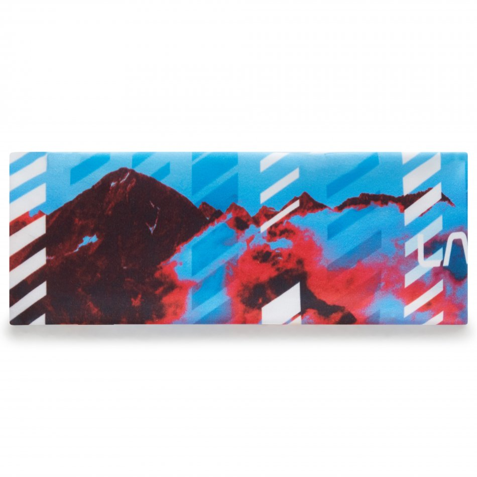 Y29100999 Strike Headband Blue Hibiscus Back