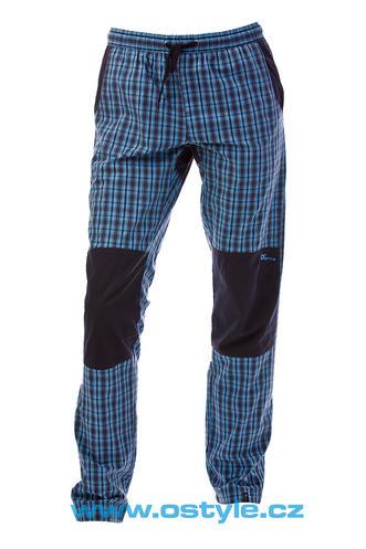 O Style Pantaloni lungi in carouri albastru