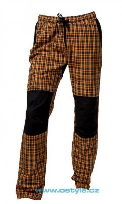 O Style Pantaloni lungi in carouri orange