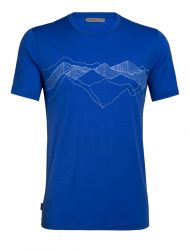 Tricou Icebreaker Tech Lite Peak Patterns Men, 87% lână merino
