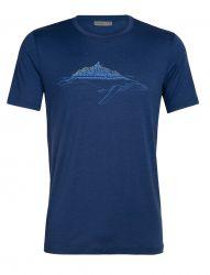 Tricou Icebreaker Tech Lite White Cap Whale Men, 87% lână merino