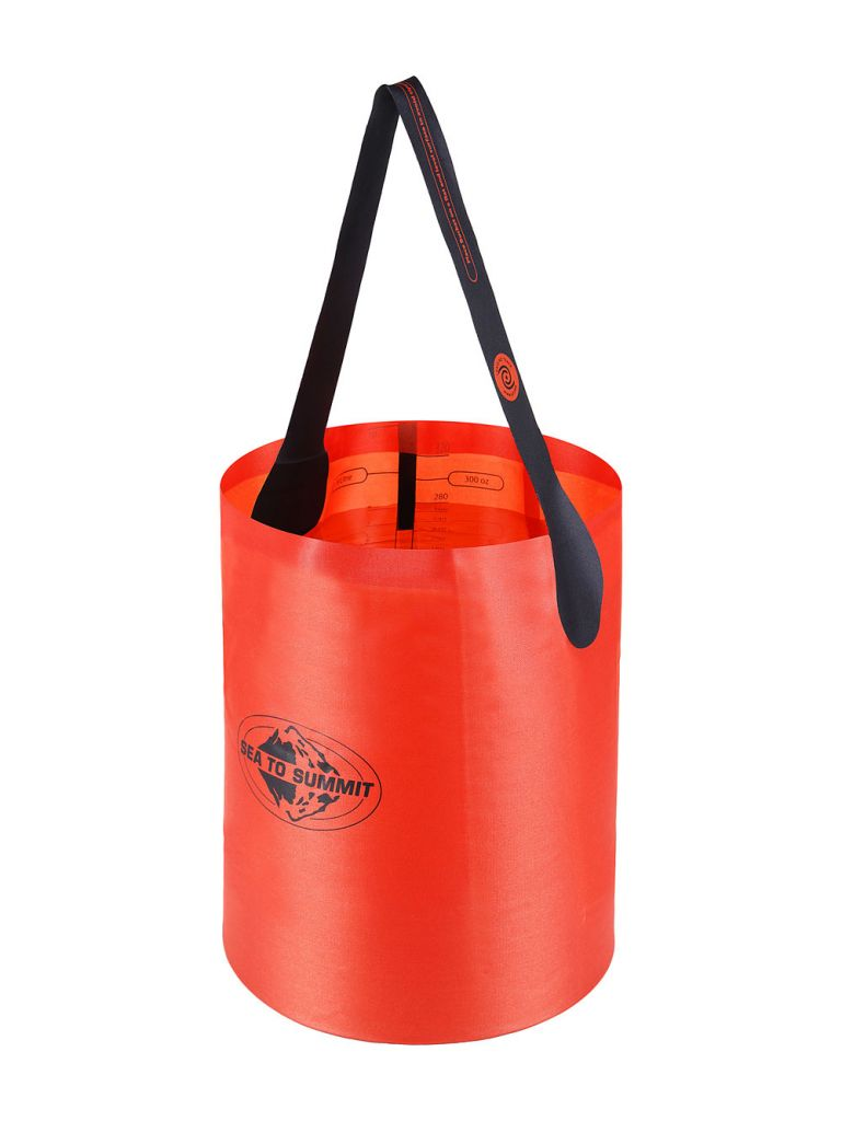 STS Folding Bucket 20l red