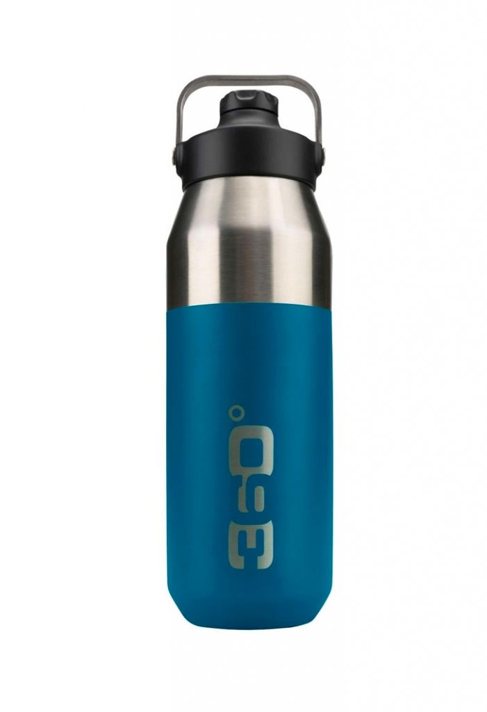 360 Degrees Wide Mouth Insulated Drink Bottle with Sipper Cap Denim