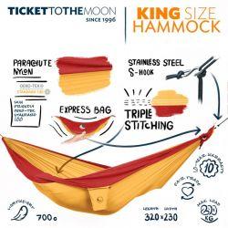 TMK3734 KING SIZE HAMMOCK  TOP SELLER (Dark Yellow (37) Burgundy  (34))