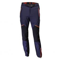 pantaloni bleumarin fermoar rosu