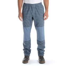 Pantaloni Think Pink Check Calanque with Plain Patch China Blue