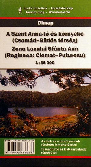 Harta zona Lacul Sfanta Ana