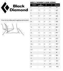 BD Size Chart Shoes