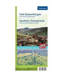 Schubert & Franzke Harta Transilvania de Sud-Ţara Bisericilor Fortificate