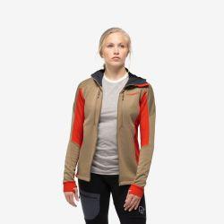 Polar Femei Norrona Trollveggen Powerstretch Pro Zip Hood  Polartec®