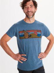 Tricou Marmot Hiking Marty Tee SS Albastru
