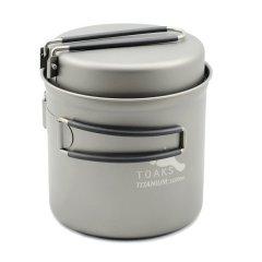 Vas 1100ml Pot with Pan Toaks Titanium