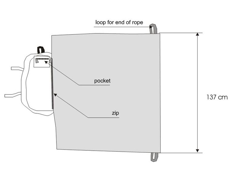 SR Rope Bag diagram