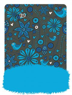 flower blue kid therm