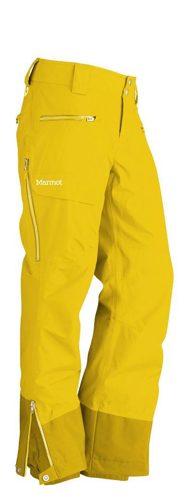 Marmot Freerider Pants Wm's 75020 Yellow Vapor