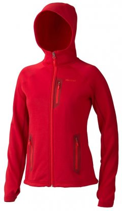 Marmot Stretch Fleece Hoody Wm's 89060 Team Red