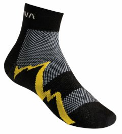 ShortDistanceSocksBlackYellow